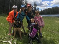 The girls longest hike of 2018 8 miles to Cottonwood Lake